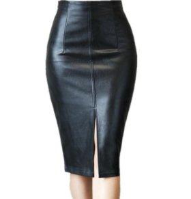 Кожаная юбка(новая 48-50)