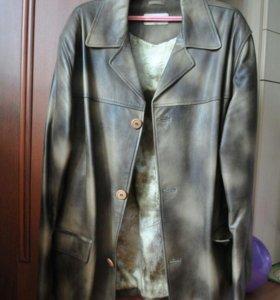 Пиджак кожаный куртка