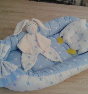 Трио для малыша: гнездышко, совушка и зайка
