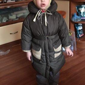 Пуховое пальто, детское