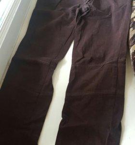 Зауженные брюки с низкой посадкой