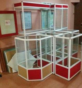 Комплект витрин стеклянных