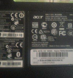 Acer aspire 7540g (на запчасти)
