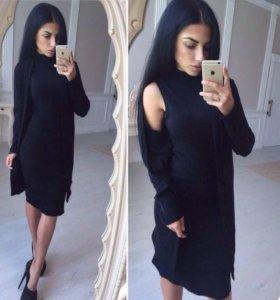 Костюм(платье+кардиган)новый