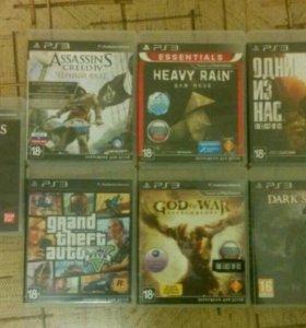 PS 3 super slim 500 gb + 7 крутых игр на дисках
