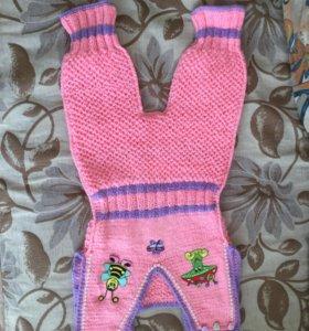 Вязаный детский костюмчик
