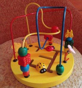 Детская деревянная развивающая игрушка