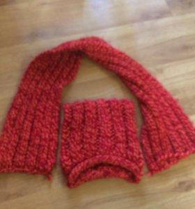 Шапка с шарфом 5-6