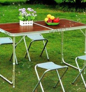 Столики складные для пикника + 4 стула(новые)
