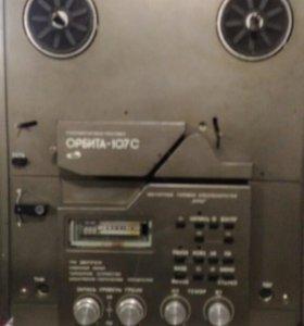 Катушечный магнитофон орбита 107с