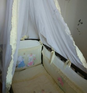Комплект постельного белья для малыша с балдахином