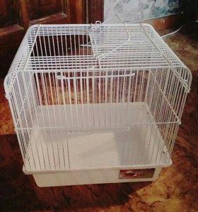 Новоя клетка + домик