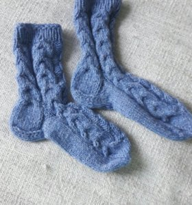 Вязанные носки Новые ручная работа длина 20 см