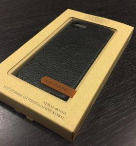 Чехол-книжка из кожи для iPhone 5/5S/5SE