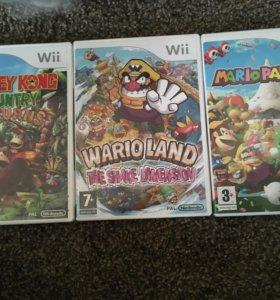 Игры nintendo Wii donkey Kong, Mario galaxy, Wario