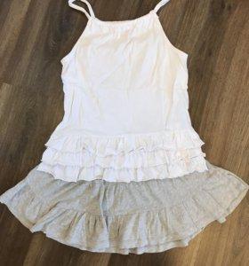 Комплект юбка и майка