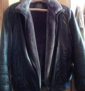 Куртка мужская из иск.кожи и меха