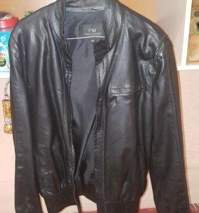 Новая кожаная куртка 46 р