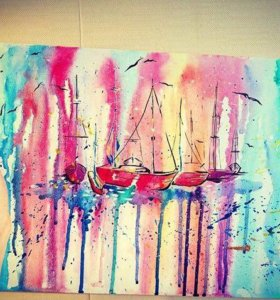 """Картина """"Яхты"""""""