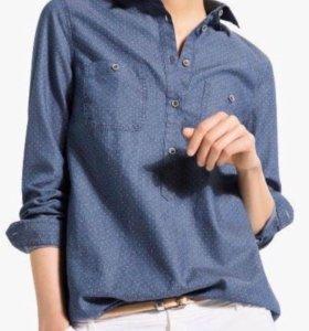 Джинсовая рубашка Massimo Dutti размер М