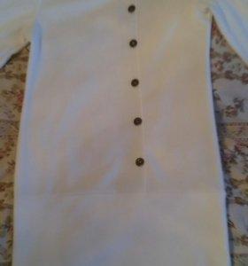 Платье белое трикотаж 44