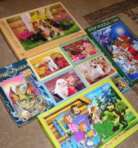 Пазлы, Puzzle 54, 120, 150, 400, 560, 600 деталей