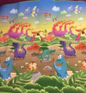 Детский игровой коврик - Динозавры 200*180*0,5