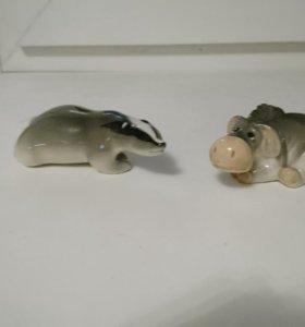 Статуэтки ослик и зверек