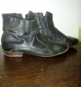 Ботинки кожаные бу