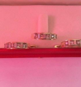 Комплект из золото 750° бриллианты
