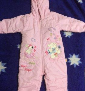 Весенне-осенний детский комбинезон для девочки