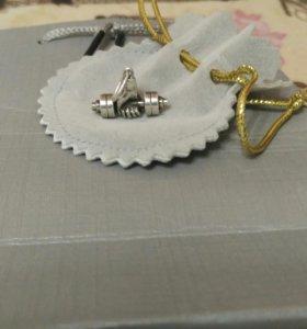 Серебряная гантеля (кулон) 925ПРОБЫ