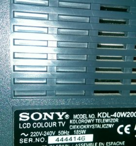 Телевизор SONY KDL-40W2000 (40дюймов)