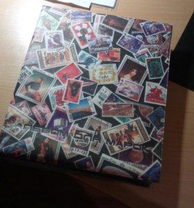 Альбом с марками, коллекция марок