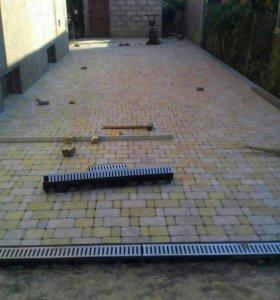 Укладка тратуарной плитки
