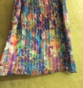 Новая лёгкая женственная юбка 50-52 xxl