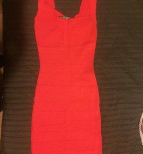 Платье бандаж красное