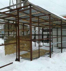 Продам гараж каркас металлоконструкция 6 на 3.5 ме
