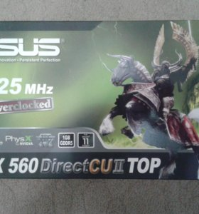 Видеокарта Аsus gtx 560