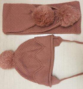 Весенний комплект -шапка и шарф