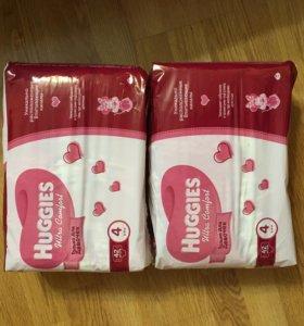 Подгузники huggies 4 для девочек