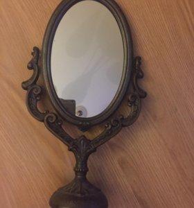 Старинное двустороннее зеркало
