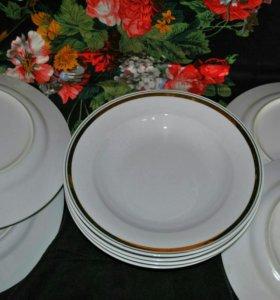 Тарелки ГДР (4 суповых, 4 столовых)