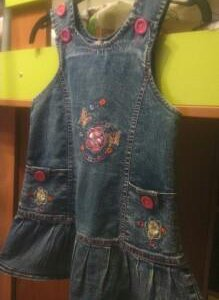 Сарафан детский джинсовый р.104-110