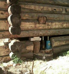Подъем домов и бань. Замена венцов