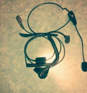 Гарнитура для рации с микрофоном