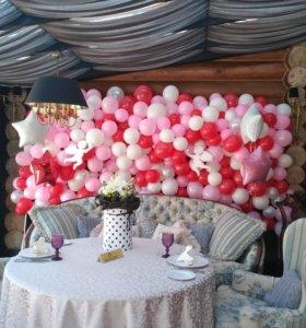 Стильное оформление воздушными шарами