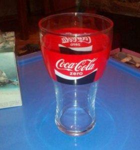 Новые стаканы бокалы coca-cola zero