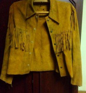 Куртка замшевая с бахромой