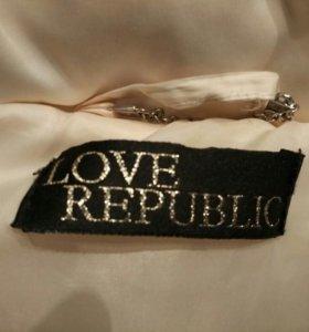 Пуховик женский love republic